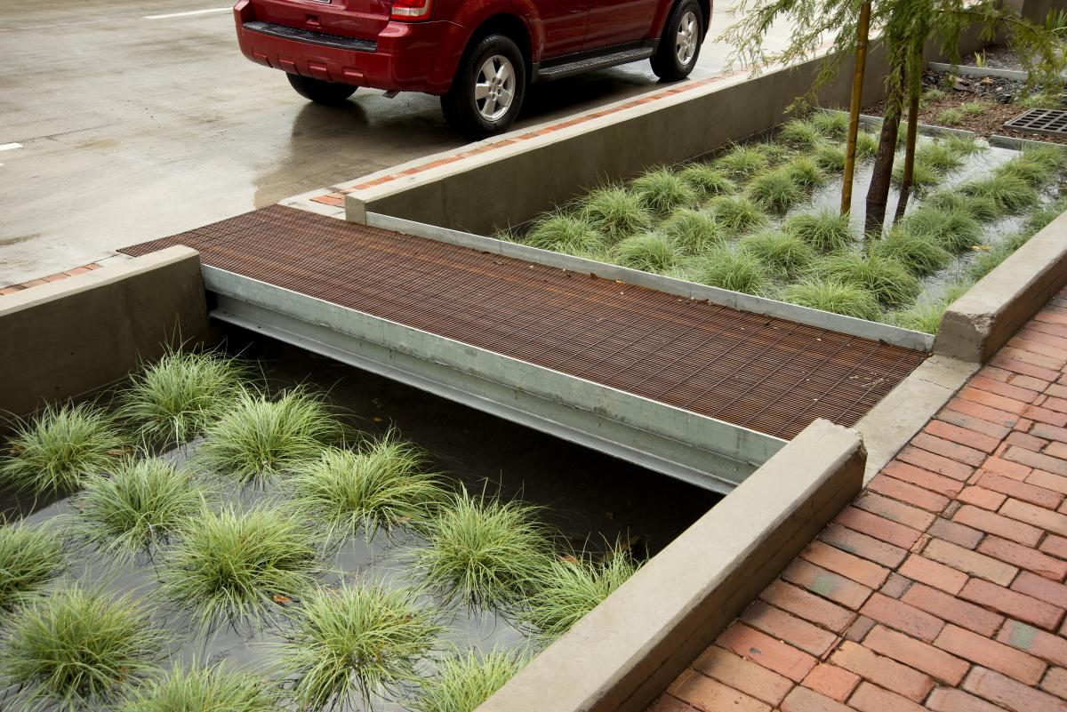 Bagby Street Houston stormwater management