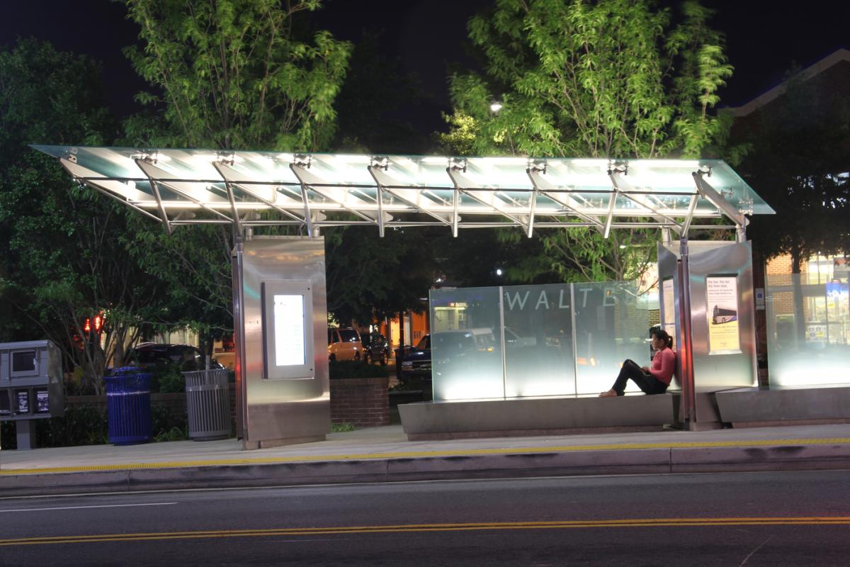 Columbia Pike Initiative Arlington bus stop