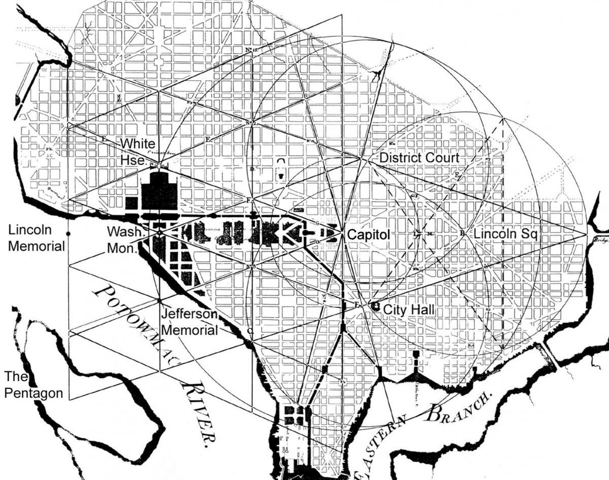 L'Enfant's sacred design for Washington DC | CNU on map of dc city, map of dc mason, map of dc comics,