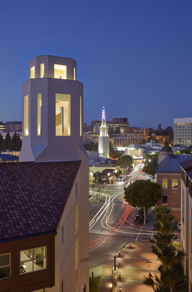A night view of UCLA