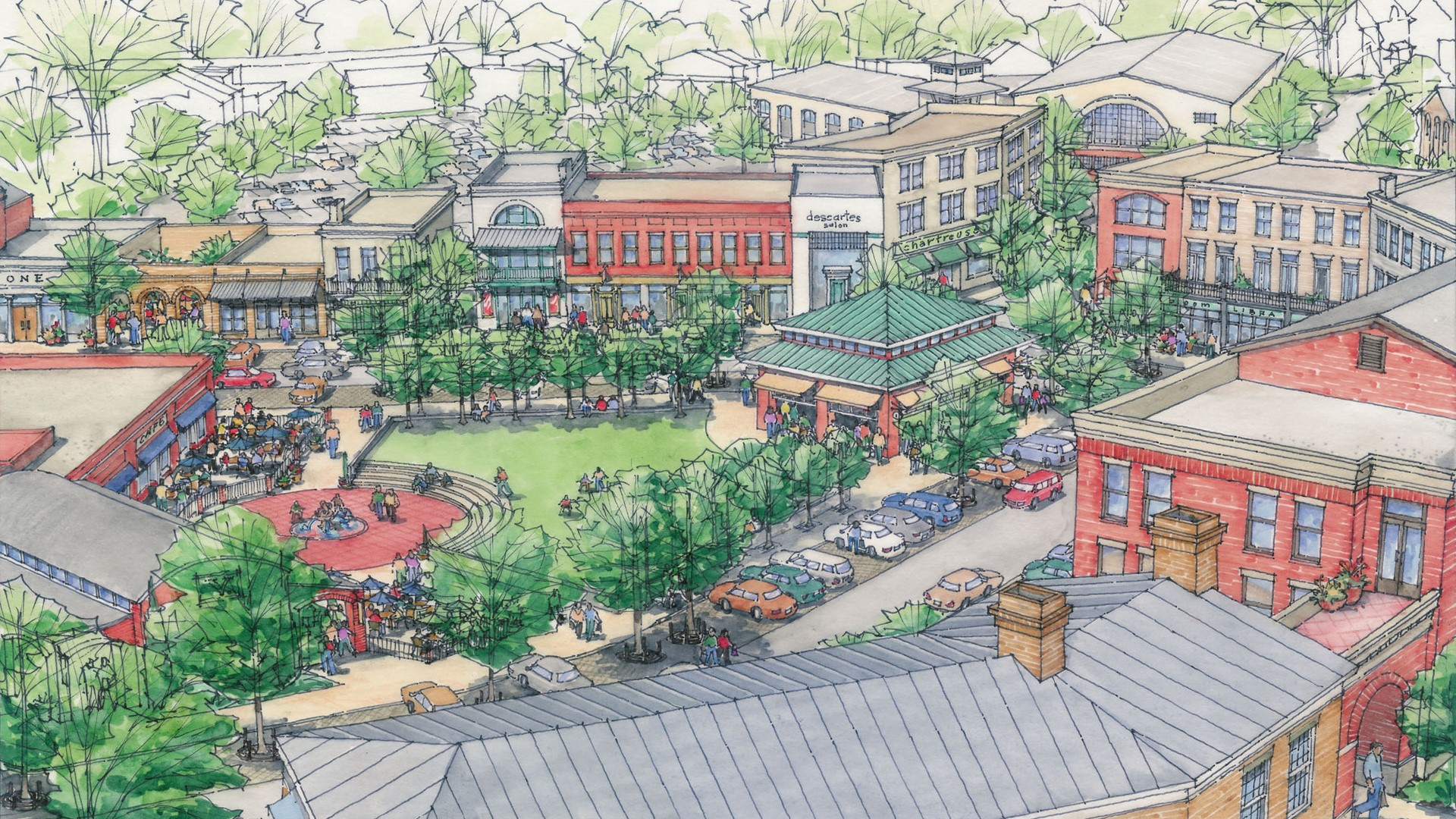 Vickery Village Center Design