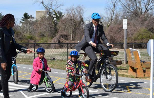 Article image for 'Traffic Gardens' teach students to bike safely