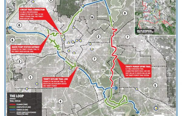 Article image for Dallas trail system; infrastructure for health