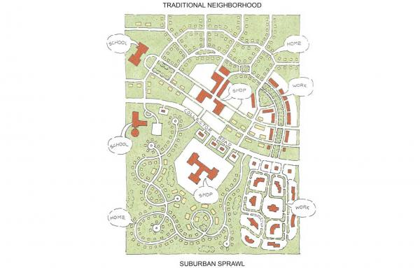 Article image for Comparing the neighborhood and sprawl