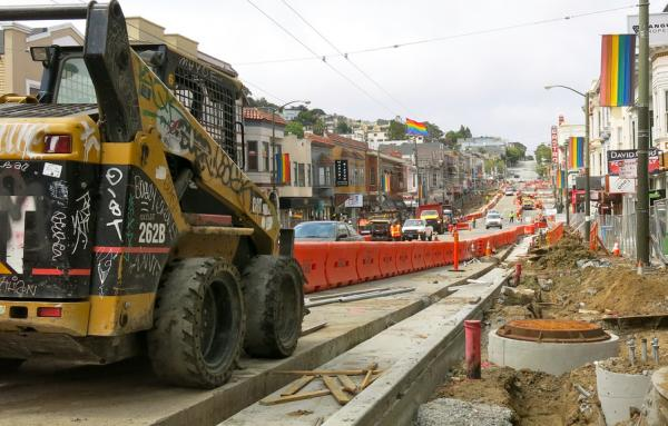 Widening sidewalks in the Castro in San Franciso 2015 by Torbak Hopper in Flickr