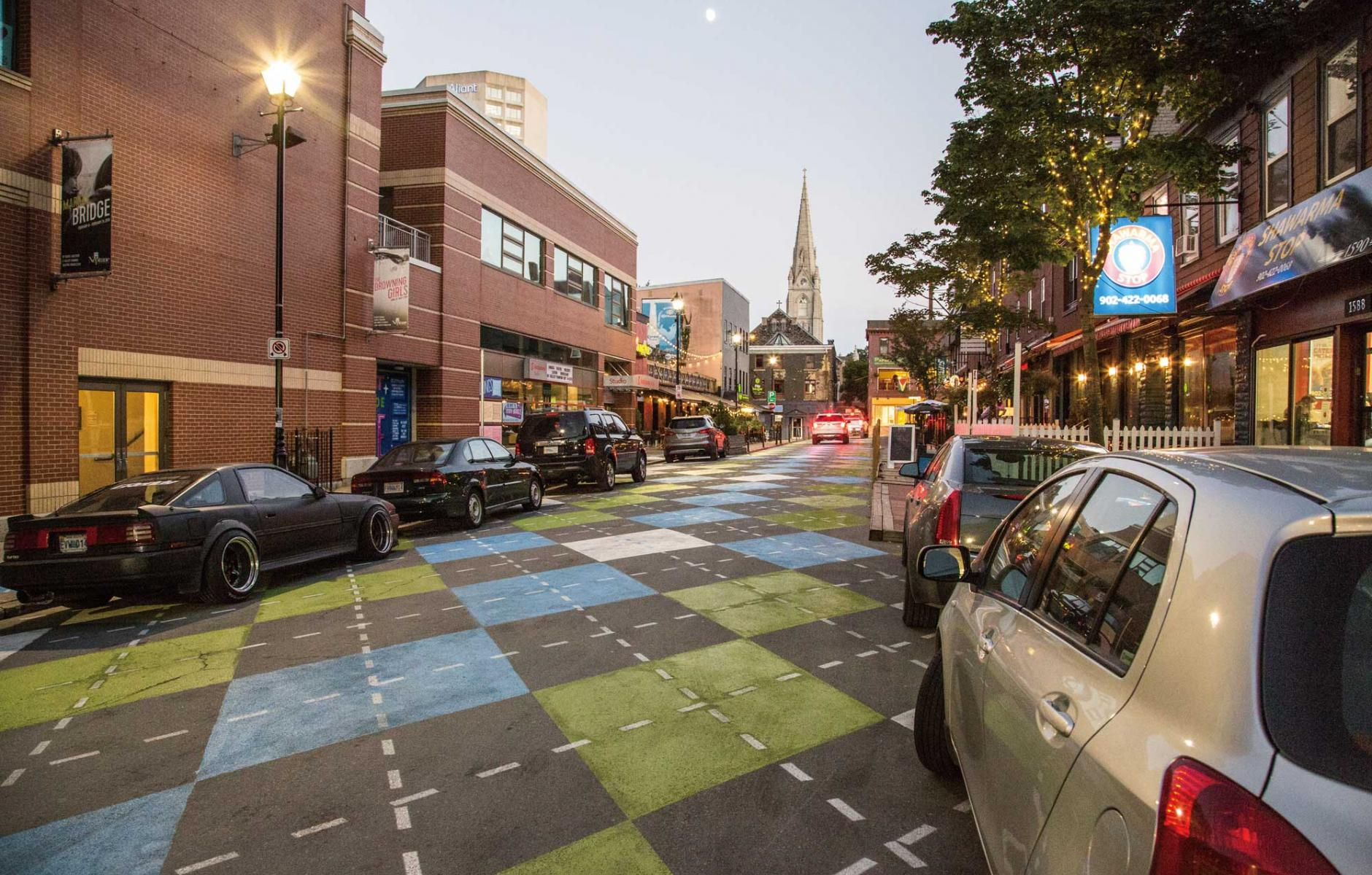 Article image for First prize: Best pavement art in new streetscape