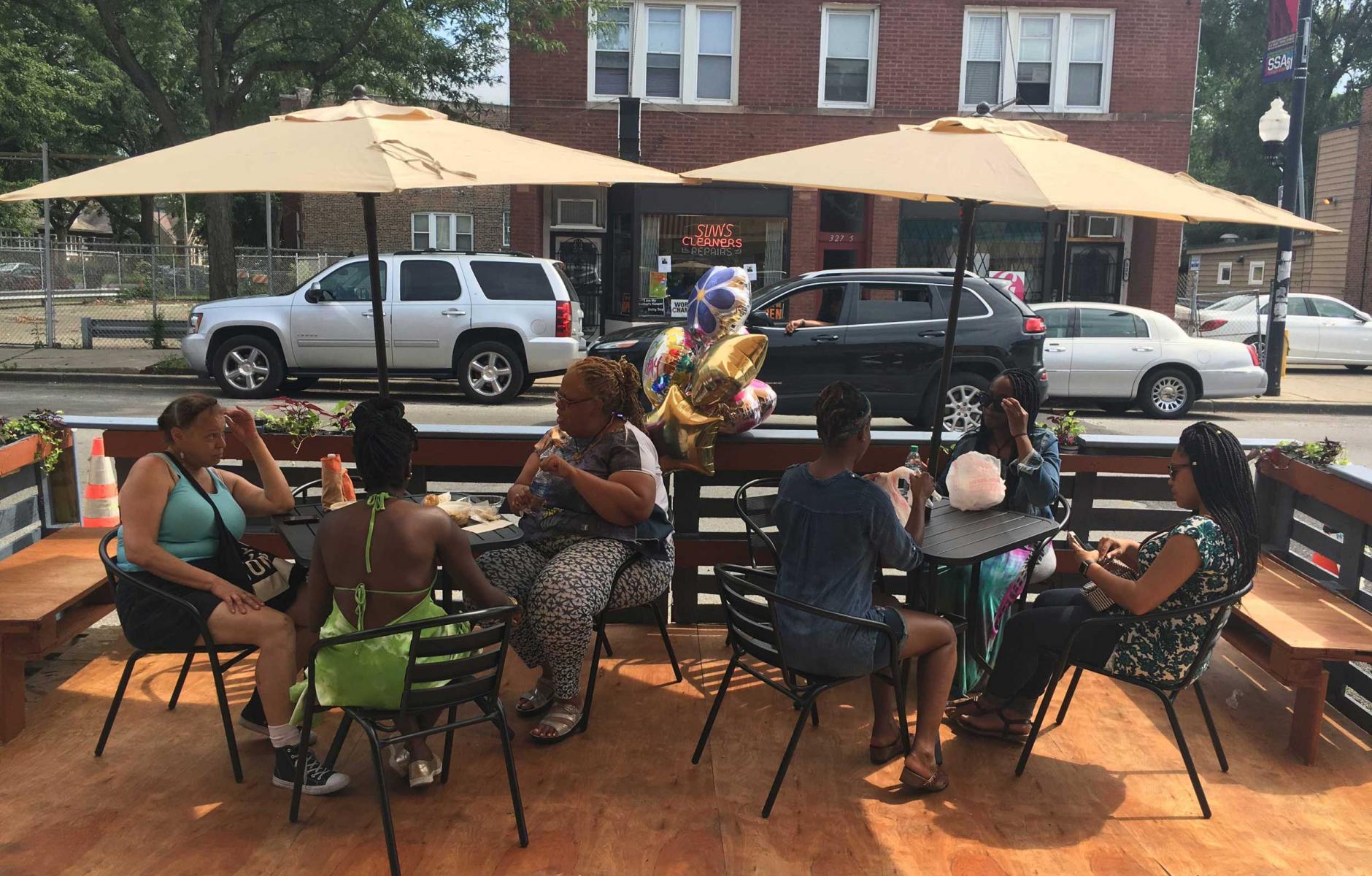 Article image for Parklets transform Southside Chicago street