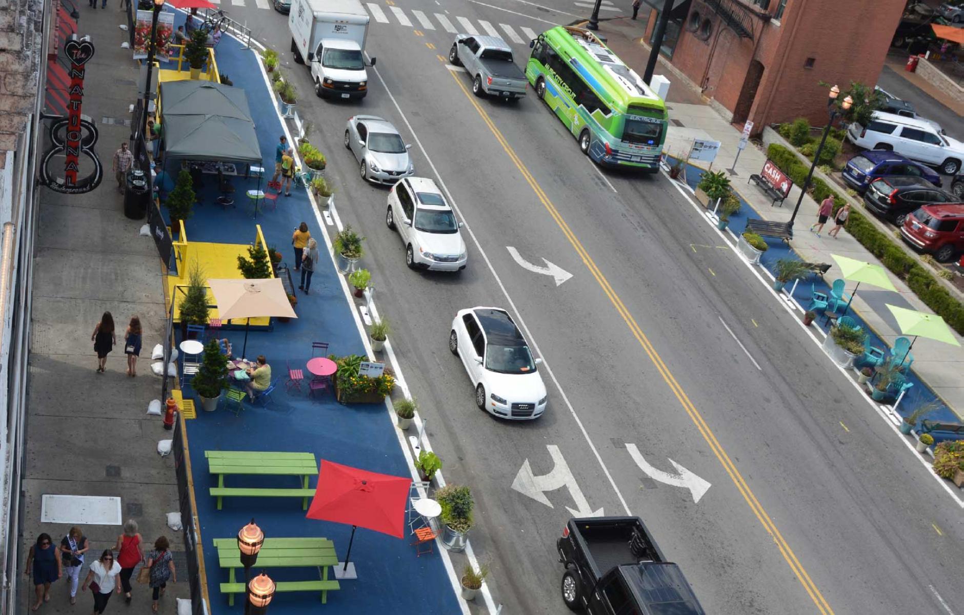 "Картинки по запросу ""sidewalk tactical urbanism"""