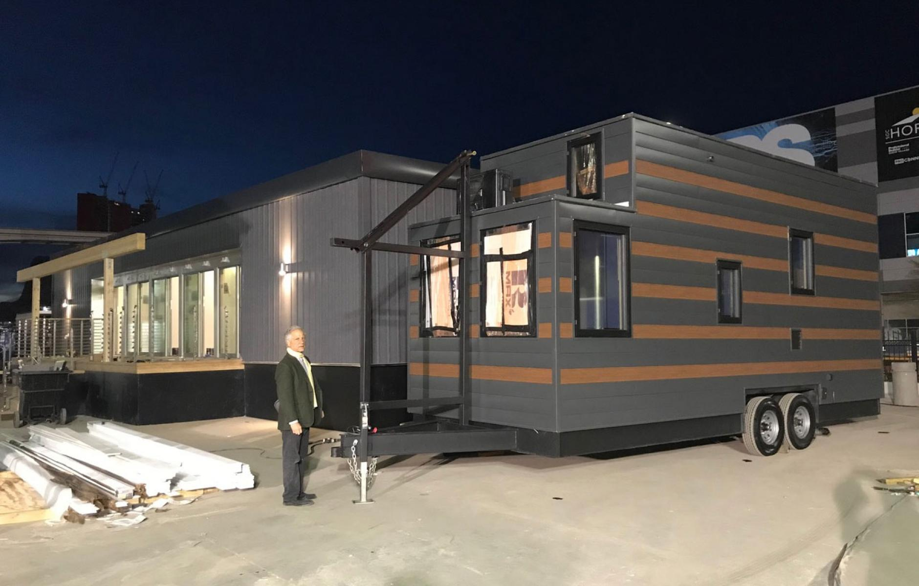 Tiny house and Mid-Century Modern trailer for affordable housing  CNU