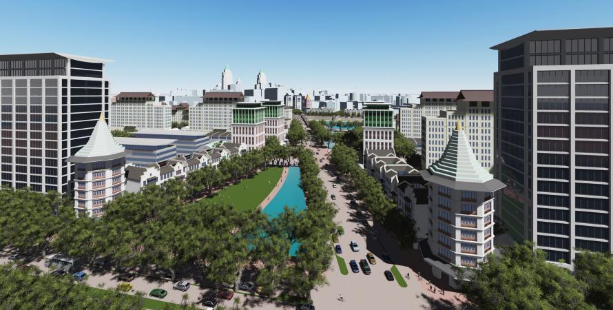 Luhe City Center Luhe proposed park