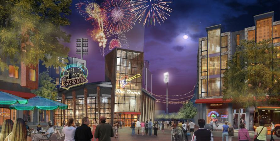 Sulphur Dell Nashville fireworks