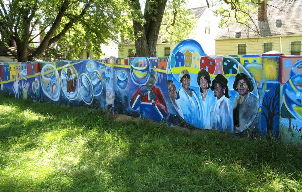 Colorfully painted Birwood Wall a reminder of racial segregation in Detroit's neighborhoods